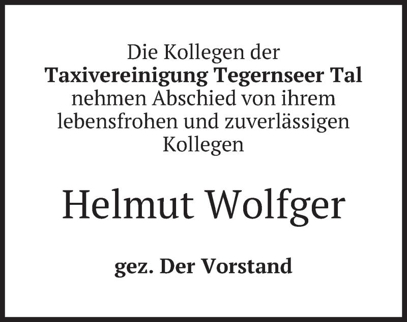 Traueranzeige für Helmut Wolfger vom 15.01.2020 aus merkurtz