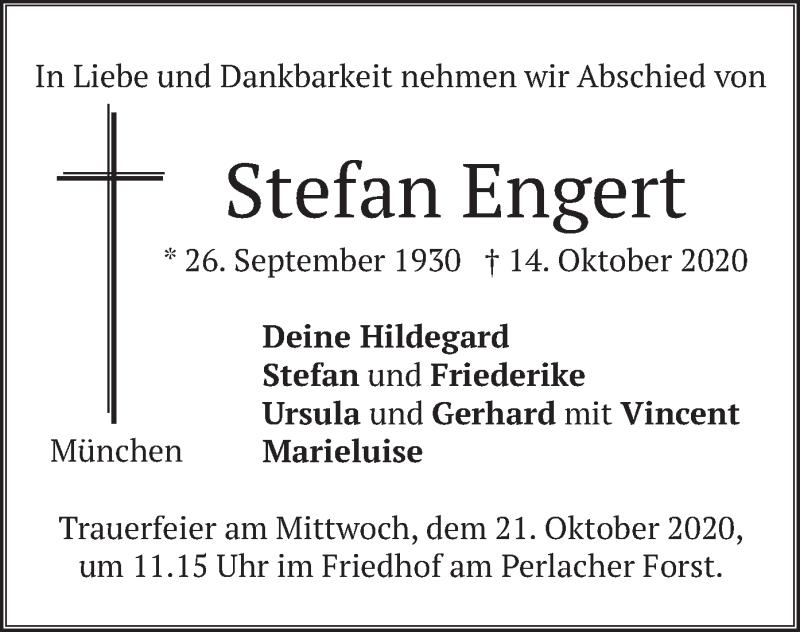 Traueranzeige für Stefan Engert vom 17.10.2020 aus merkurtz