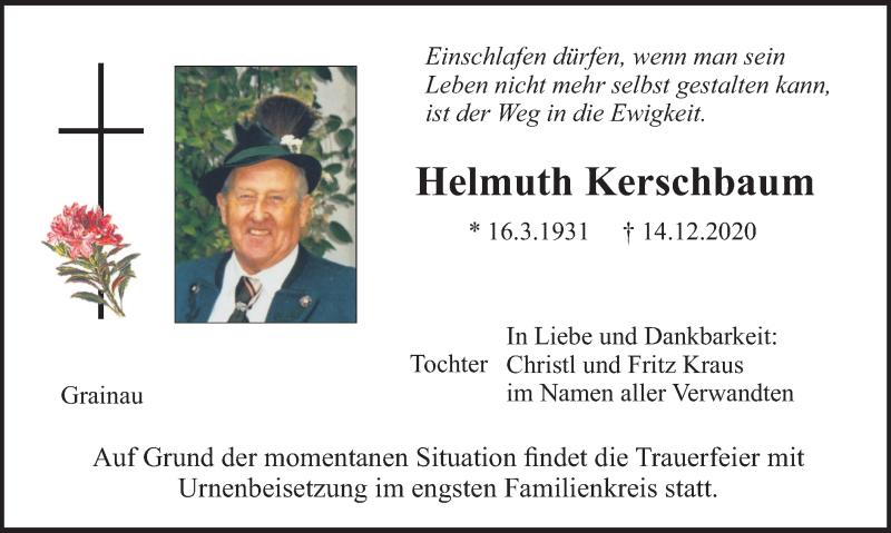 Traueranzeige für Helmuth Kerschbaum vom 24.12.2020 aus merkurtz
