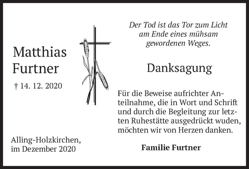 Traueranzeige für Matthias Furtner vom 24.12.2020 aus merkurtz