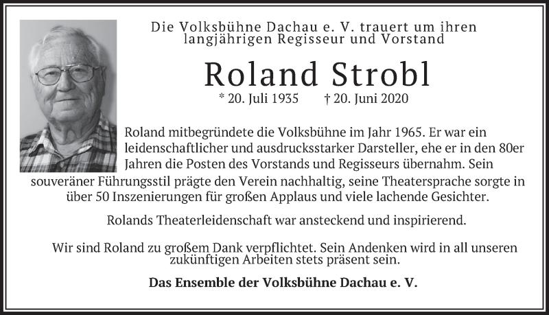 Traueranzeige für Roland Strobl vom 23.06.2020 aus merkurtz