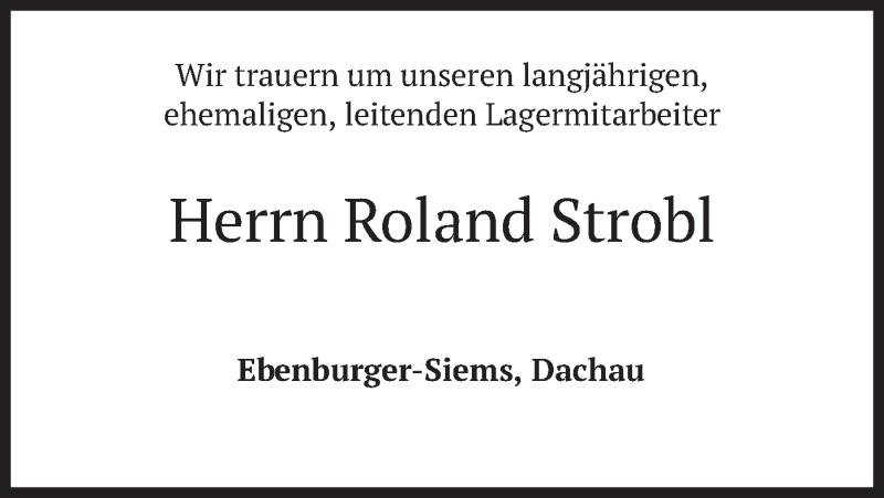 Traueranzeige für Roland Strobl vom 25.06.2020 aus merkurtz