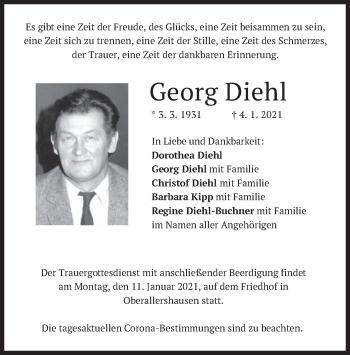Traueranzeige von Georg Diehl von merkurtz