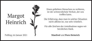 Traueranzeige von Manfred Heinrich von merkurtz