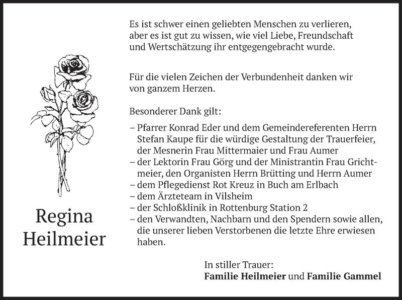 Traueranzeige für Regina Heilmeier vom 16.01.2021 aus merkurtz