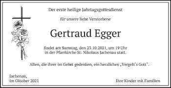 Traueranzeige von Gertraud Egger von merkurtz