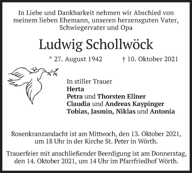 Traueranzeige für Ludwig Schollwöck vom 13.10.2021 aus merkurtz