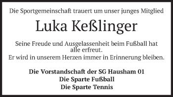 Traueranzeige von Luka Keßlinger von merkurtz