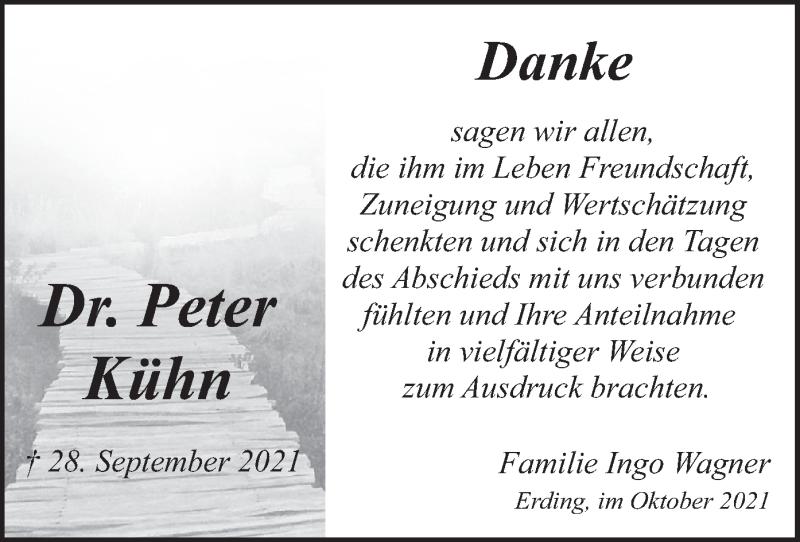 Traueranzeige für Peter Kühn vom 23.10.2021 aus merkurtz