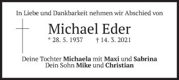Traueranzeige von Michael Eder von merkurtz