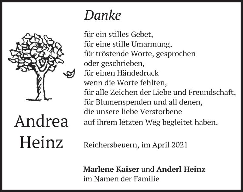 Traueranzeige für Andrea Heinz vom 10.04.2021 aus merkurtz