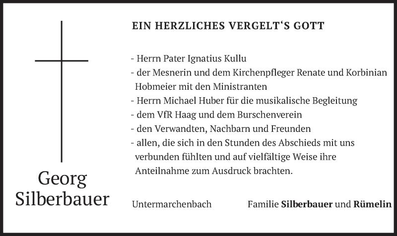Traueranzeige für Georg Silberbauer vom 17.04.2021 aus merkurtz