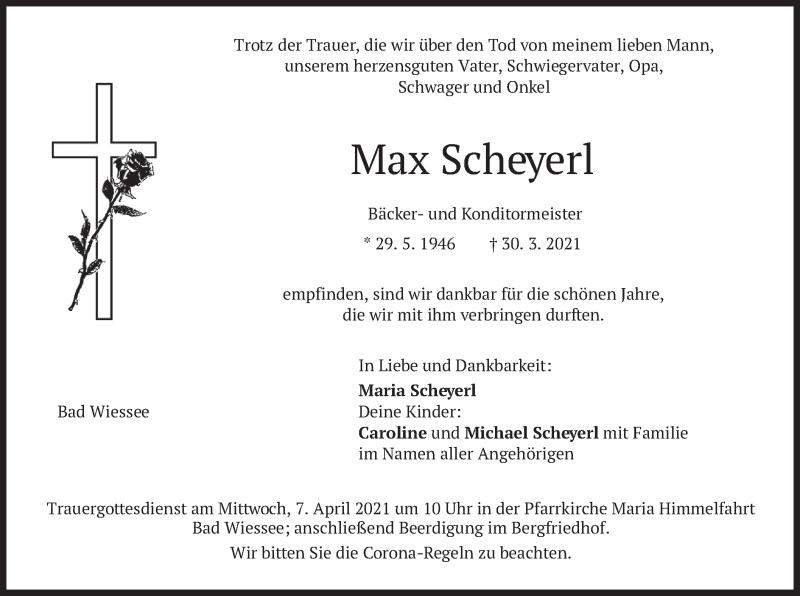 Traueranzeige für Max Scheyerl vom 03.04.2021 aus merkurtz