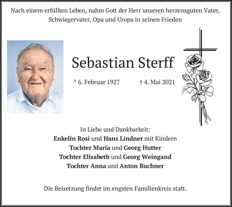 Traueranzeige für Sebastian Sterff vom 06.05.2021 aus merkurtz