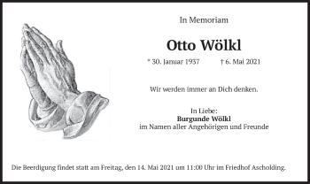 Traueranzeige von Otto Wölkl von merkurtz