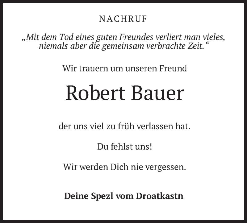 Traueranzeige für Robert Bauer vom 15.05.2021 aus merkurtz