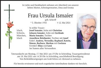 Traueranzeige von Ursula Ismaier von merkurtz