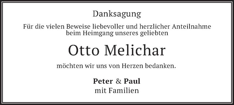 Traueranzeige für Otto Melichar vom 12.06.2021 aus merkurtz