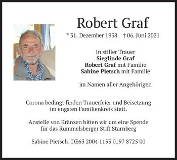 Traueranzeige von Robert Graf von merkurtz
