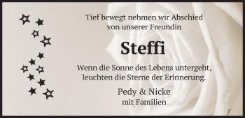 Traueranzeige von Steffi  von merkurtz
