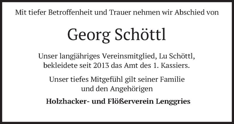 Traueranzeige für Georg Schöttl vom 02.08.2021 aus merkurtz