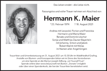 Traueranzeige von Hermann K. Maier von merkurtz