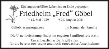 Traueranzeige von Friedhelm Göbel von merkurtz